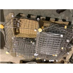 Wire metal organizing baskets