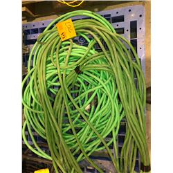 Large lot of Green extension cords