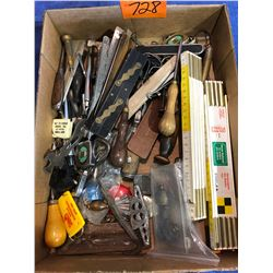 Various tools, brass tools, wood handle tools