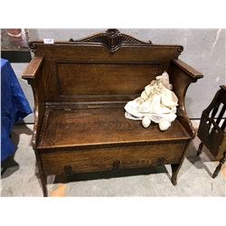 Early 1900s Deacon's Bench with storage