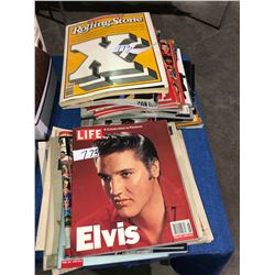 Approx 30 collector vintage news magazines, Time, Life, Special Editions, Elvis Presley, Princess Di