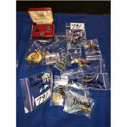 Police pins, Swarovski crystal, Disney pin