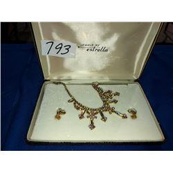 Vintage Estrella earring & necklace set