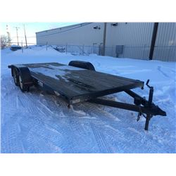 SKL flatdeck car trailer, 6000lb axels, 21ft long, used very little