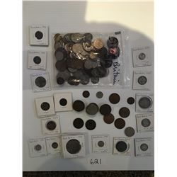 Antique coins from Great Britain 1913 to 1960s, various pieces & denominations