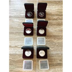 Six silver collectors coins from Royal Canadian Mint, 92.5% silver