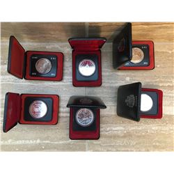 Six Canadian collector coins
