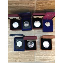 Seven Canadian collector coins