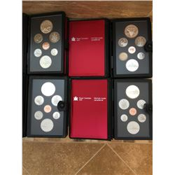 4 Canadian Mint proof sets from 1982, 1980, 1983, 1984