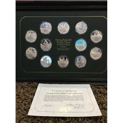 Norman Rockwell Medallic tribute to Robert Frost, commemorative coins in sterling silver