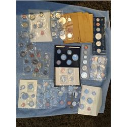 Several Canadian uncirculated coin sets, 1967, 1964, 1965, 1970 x 2, 1973, 1963, 1982 x 2, 1984, 196