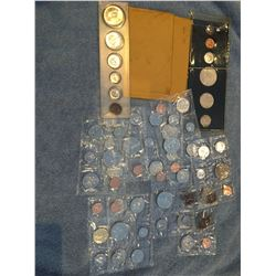 Several Canadian uncirculated coin sets, 1964, 1970, 1973, 1979, 1987, 1984, 1967, 1982, 1988, 1987