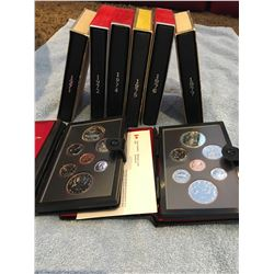 Eight Royal Canadian Mint proof coin sets, 1971, 1972, 1974, 1975, 1976, 1977, 1978, 1979