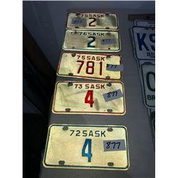 5 Sask motorbike plates