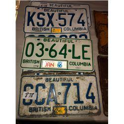 6 BC Plates