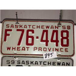 2 - 1958 Sask Plates