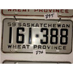 2 - 1959 Sask Plates