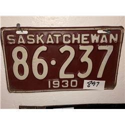 2 - 1930 Sask Plates