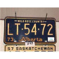 2 - 1973 Alberta Plates