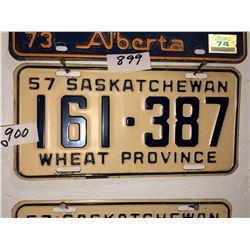 4 - 1957 Sask Plates