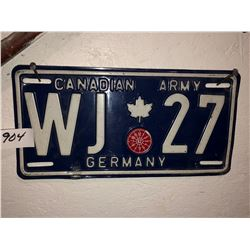 Canadian army /West Germany Plate