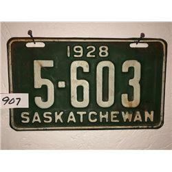 1928 Sask Plate