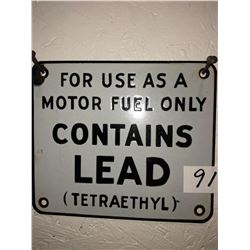"""Old Large """"Stop"""" sign plus lead fuel plate"""