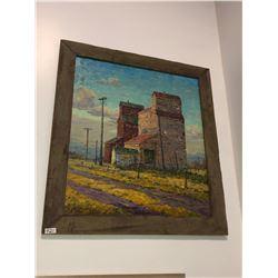 """George Buytendorp """"Elevators"""" oil on canvas 48""""x48"""""""