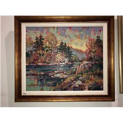 "Yvon Breton ""Pays De Mervielles"" oil on canvas 30""x36"""