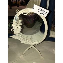 2 Mirrors & metal deco framed dressing mirror