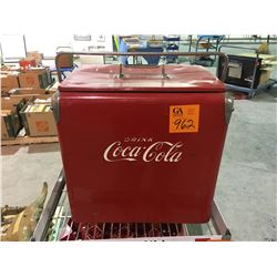 Coke picnic cooler - collectible metal 1950s