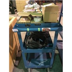 HD Blue mobile Audio Visual or parts cart