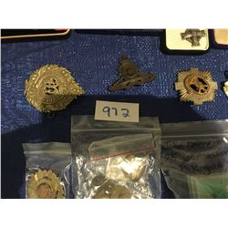 Various military & police Regalia, Badges, pins, medallions, medals
