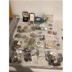Several tokens, collector medallions, souvenir coins