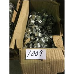 100s of dollars in electrical fittings, clamps, fasteners, connectors, anchors, approx 50 full boxes