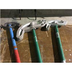 3 Various size Greenlee pipe benders