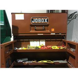 Jobox large locking jobsite tool carrier mobile