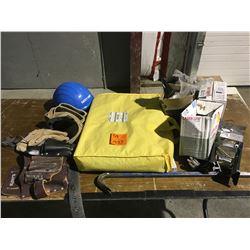 5 piece spill kit, tool belts, HD goose neck, helmet