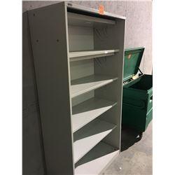 Montel 5 shelf sliding door cabinet