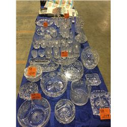 Large lot of Czechoslavakia crystal - very high end