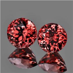 Natural Pinkish Orange Zircon Pair 4.50 MM - VVS