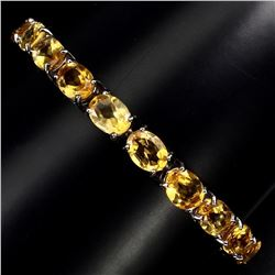 Natural Oval 8x6mm Top Rich Yellow Citrine Bracelet