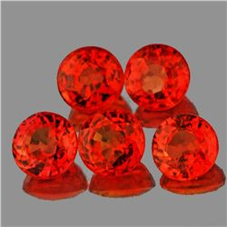 Natural Orange Sapphire 3.70 MM- VVS