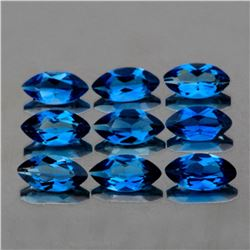 Natural London Blue Topaz (6 Pcs) 8x4 MM - FL