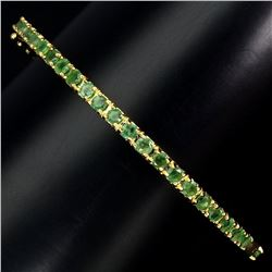 Natural Top Rich Green Emerald Bangle