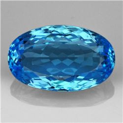 Natural Brillant Cut Sky Blue Topaz 27 Carats - VVS