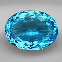 Natural Brillant Cut Sky Blue Topaz 30.40 Ct - VVS
