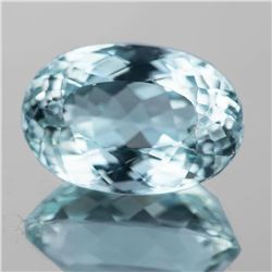 NATURAL BLUE GREEN TOPAZ 25x17 MM Topaz - FL