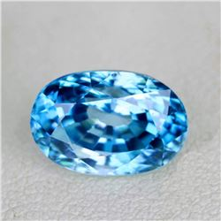 Natural Blue Cambodian Zircon 3.85 Ct