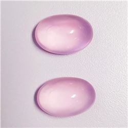 Natural Pastel Pink Rose Quartz Pair - Flawless